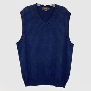 Tasso Elba 100% Cotton Blue knit Vest